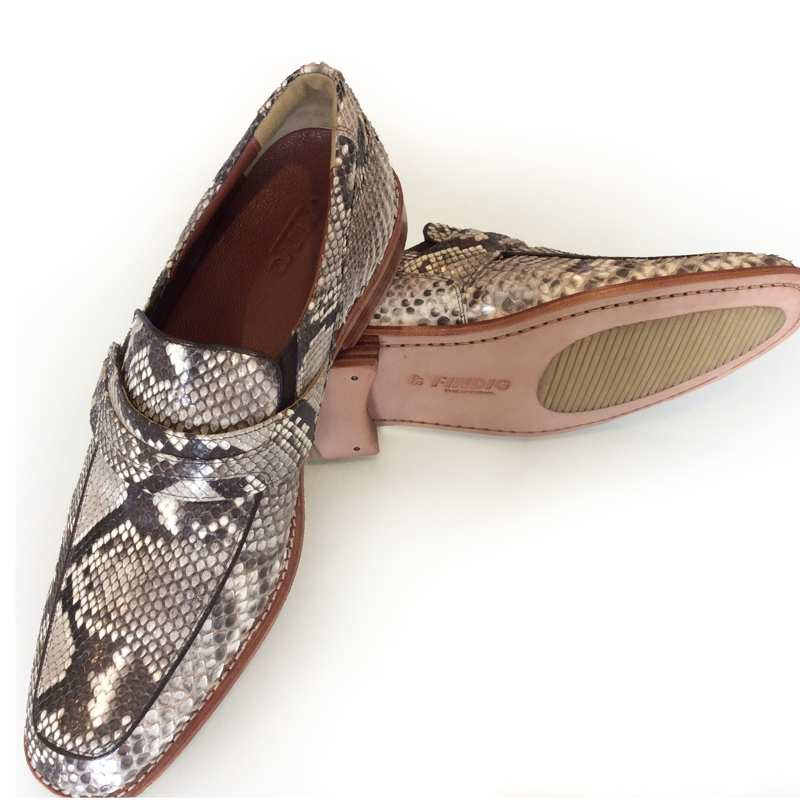 Genuine Python Snake Leather Mens Shoes FN340